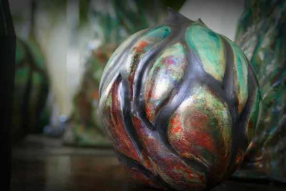 Dream a Little Dream! Raku by Andrzej Chybowski Flamma Pottery