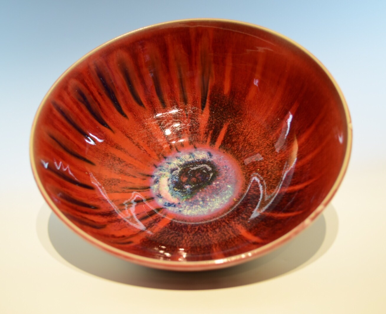 Copper Red, Glaze, Bowl, Marian Williams Pottery