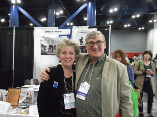 Elaine Henry, Editor of Ceramics Art & Perception/Technical & Greg Daly