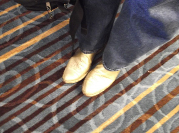 Dennis Siporski – The Elvis Potter With Gold Boots-Seen At NCECA 2013!