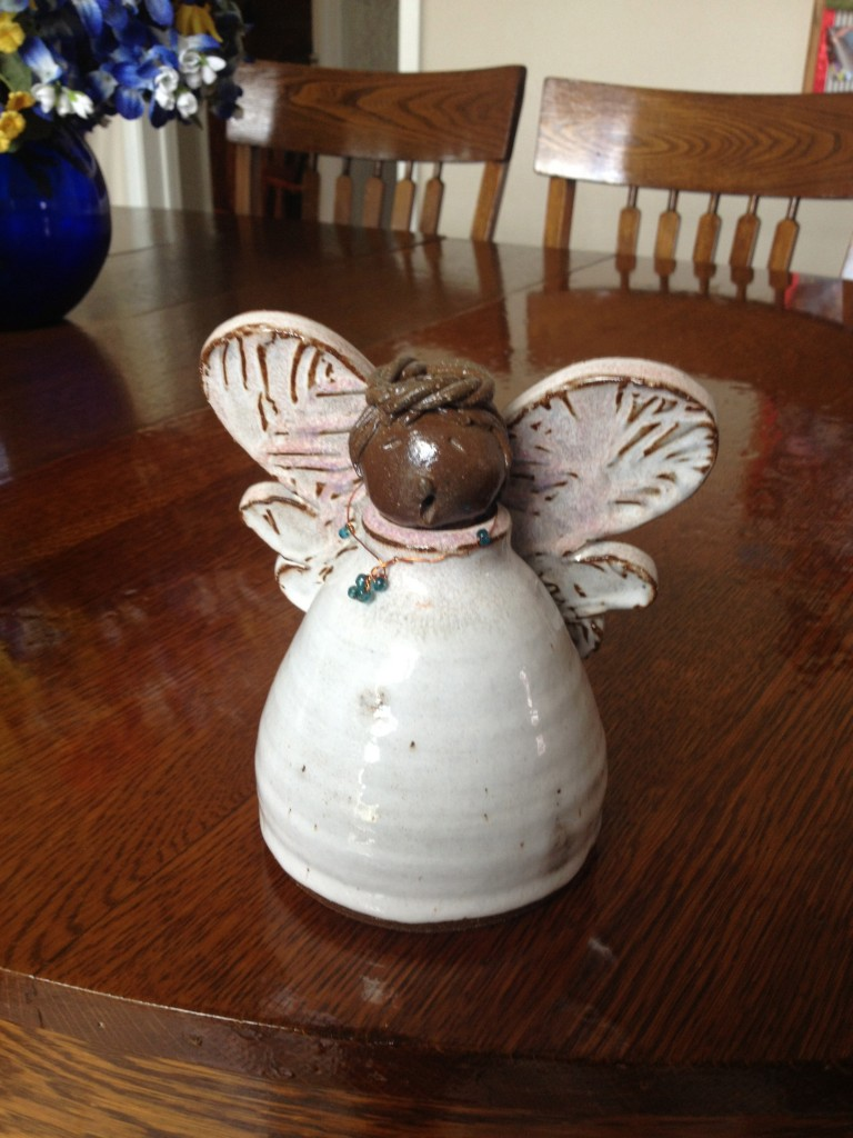 Oil Lamp Angel Made by Marian Williams, 2000