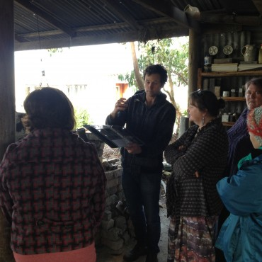 Zak Chalmers- Valley Plains Pottery-explaining his kilns and woodfiring process.