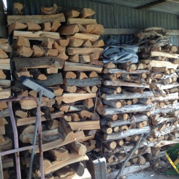 Wow! Look at that Woodpile-This is the amount required to fire his kiln.