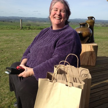 Kim Foale happy with her purchases!