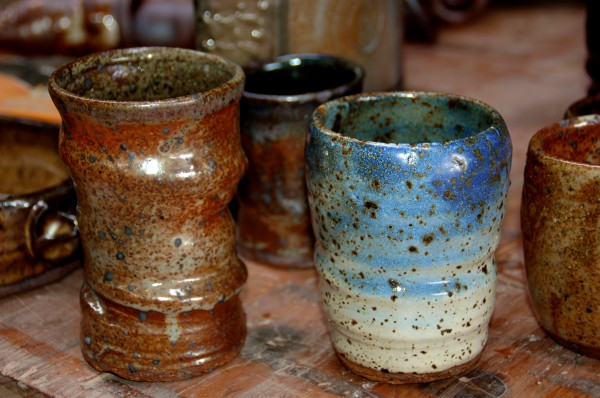 woodfired cups, carbon trapping, shino