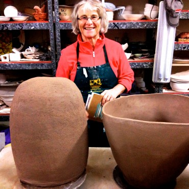 Anne Mossman created two (count them!!!) amazing vessels!