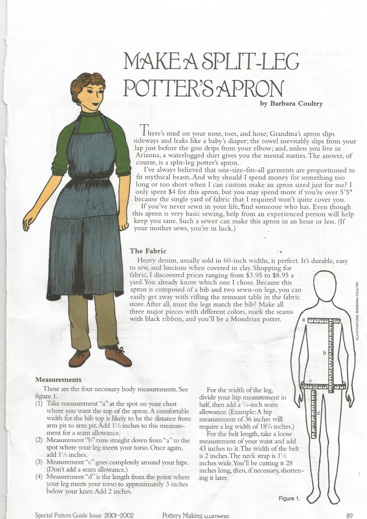 Make a split leg pottery apron-page 1