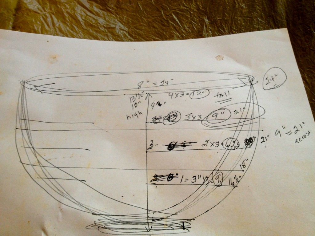 This was the drawing and measurements that I worked from.  As you can see, I have trouble following a map!