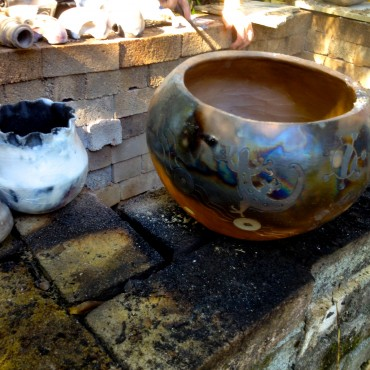 More pots out of the pit fire.