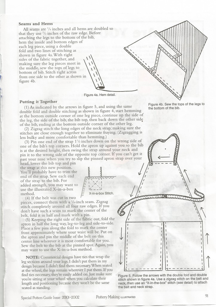 Make a split leg pottery apron-page 3
