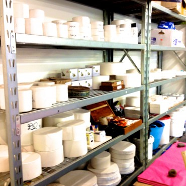 Molds, shelving, equipment-no tidy!!