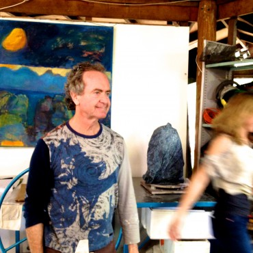 Suvira McDonald in his studio.