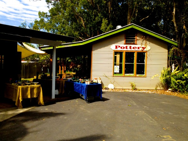 Here is the Mullumbimby Potters Association building.