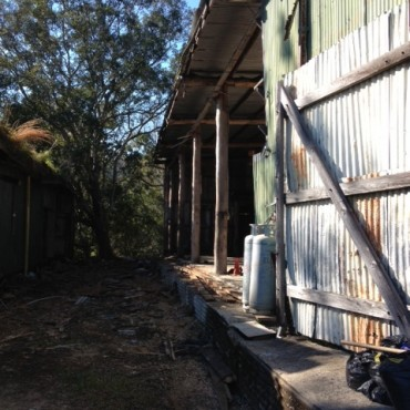 A before of the barn side.