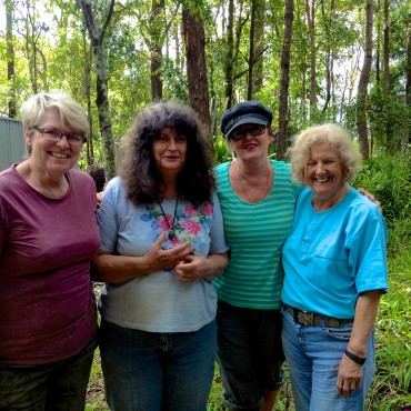 Murwillumbah Potters - (L-R) Ronda Luland, Lorraine Emmanuel, Claire Byrne, Shirley Featherstone.