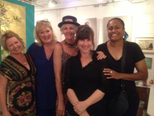 Exhibiting Artists:  (L-R) Heidi Ledwell, Marian Williams, Marcia Gibbs, Dawn Walker, Leweena Williams.