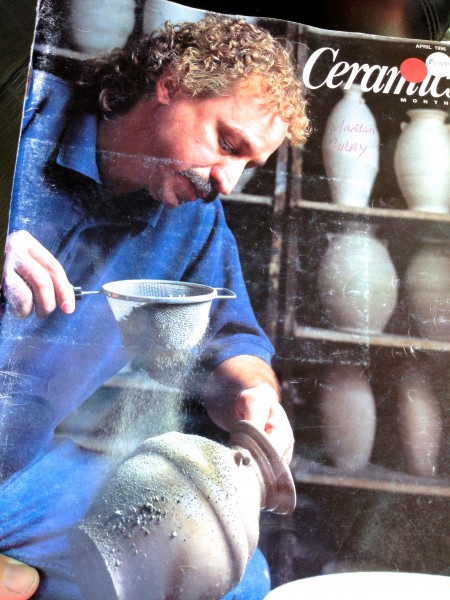Dick Lehman on the cover of Ceramics Monthly.