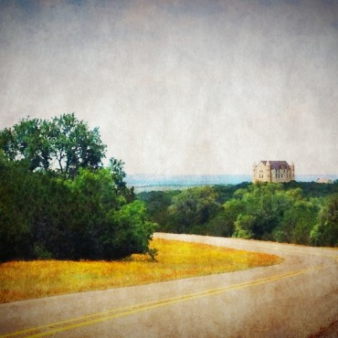 This is the castle near our place!  In the hills of Texas!