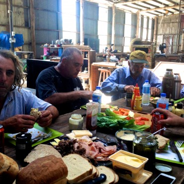 "I spent over a month cooking and feeding the crew that repaired the barn - it felt very ""Under the Tuscan Sun""!!!"