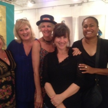 Heidi Ledwell and the gals at the Sheoak Gallery!