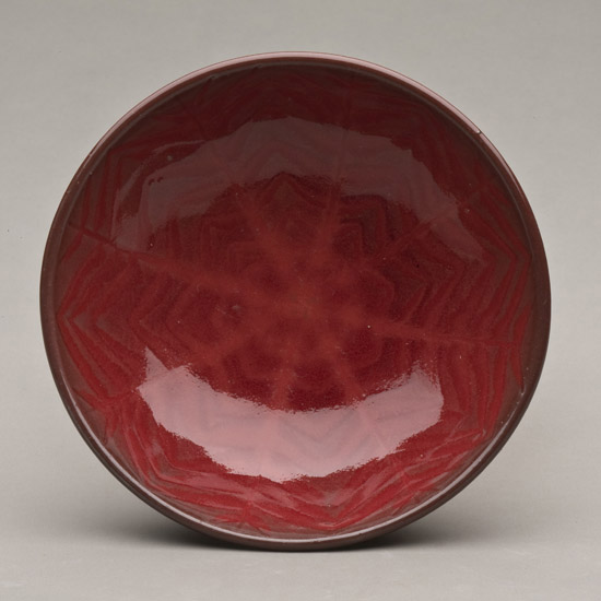 Harding Black Copper Red Glaze