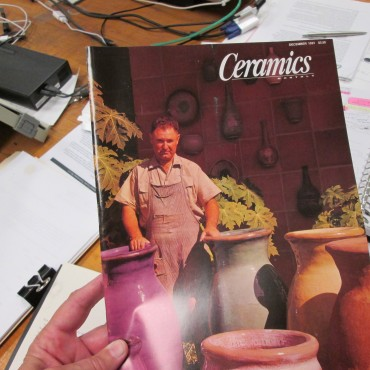 Harding Black on the cover of Ceramics Monthly