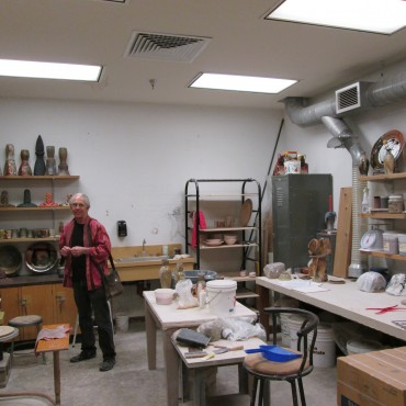 Paul McCoy in his studio at Baylor University.