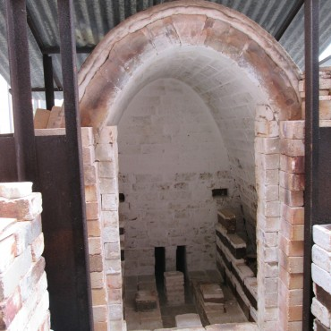 Salt firing kiln.