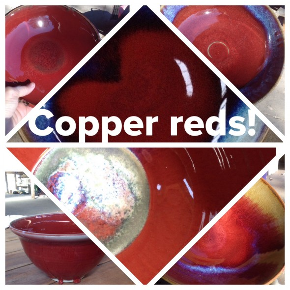 Copper Red Glazes- Firing Results