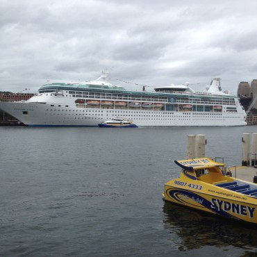 Cruise ship at Circular Quay, Sydney Harbour