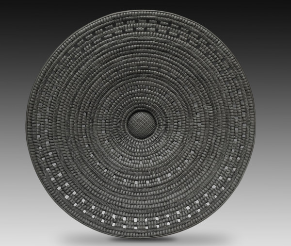 Basketweave Pattern Platter by Candone Wharton