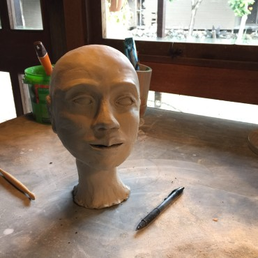 Sculpture Head In Process