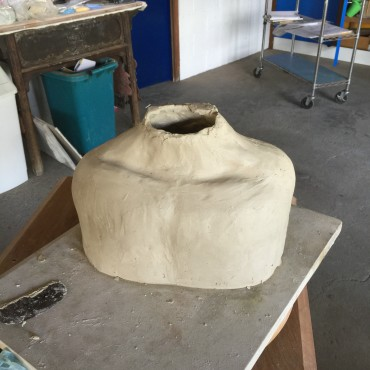 Sculpture Torso/Chest Before Adding Head