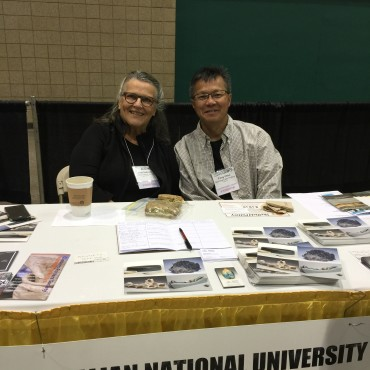 Janet DeBoos and Choo representing Australia National University