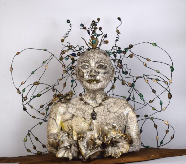 embattled earth angel, figurative sculpture