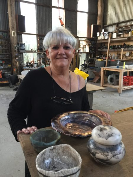 Kym's raku pieces.